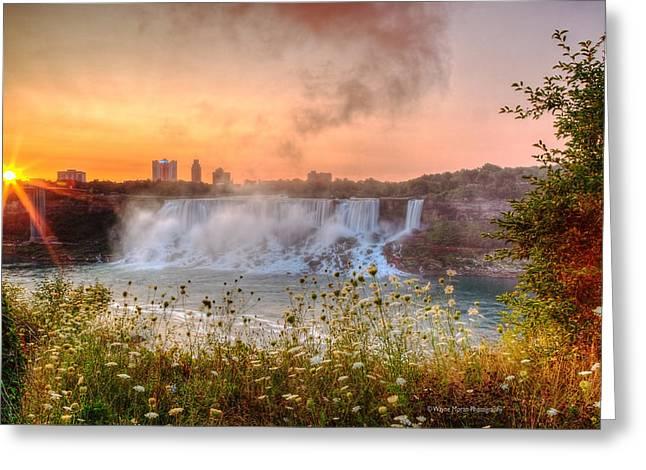 Niagara Falls Canada Sunrise Greeting Card