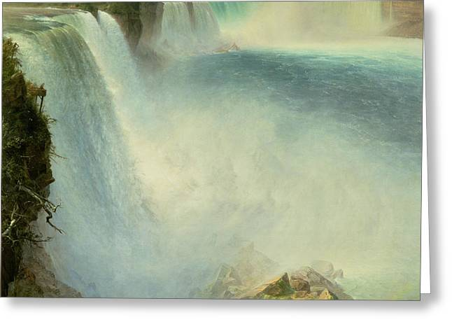 Niagara Falls, From The American Side, 1867 Greeting Card by Frederic Edwin Church