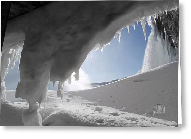 Niagara Falls Frozen Greeting Card by J R Baldini