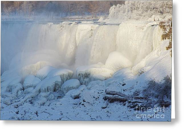 Niagara Falls In Winter Greeting Card