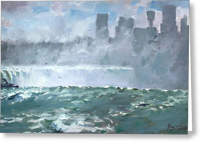 Niagara  Falls Mist  Greeting Card by Ylli Haruni