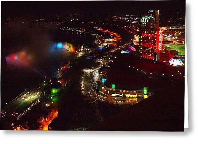 Niagara Falls Overview Greeting Card by Robert Watcher