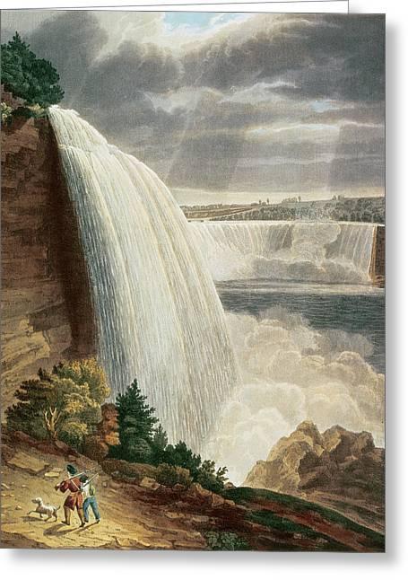 Niagara Falls Greeting Card by HJ Bennett