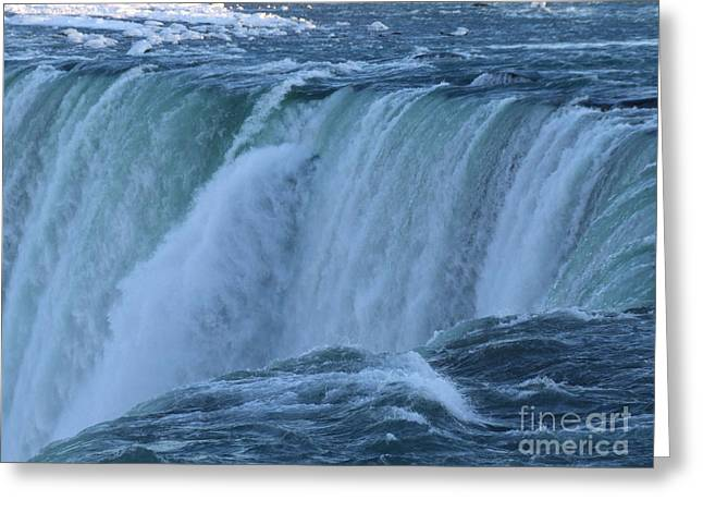 Greeting Card featuring the photograph Niagara Falls - Power by Phil Banks