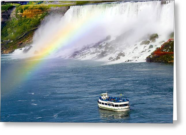 Niagara Falls Rainbow Greeting Card