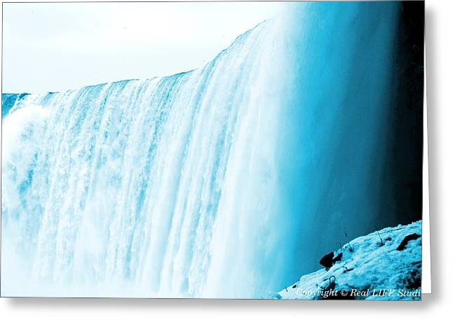 Niagara Falls ..so Blue Greeting Card by Al Fritz