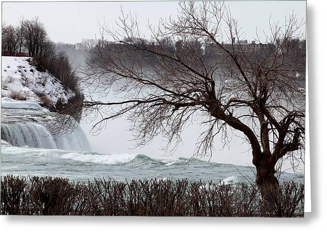 Niagara In Winter Greeting Card