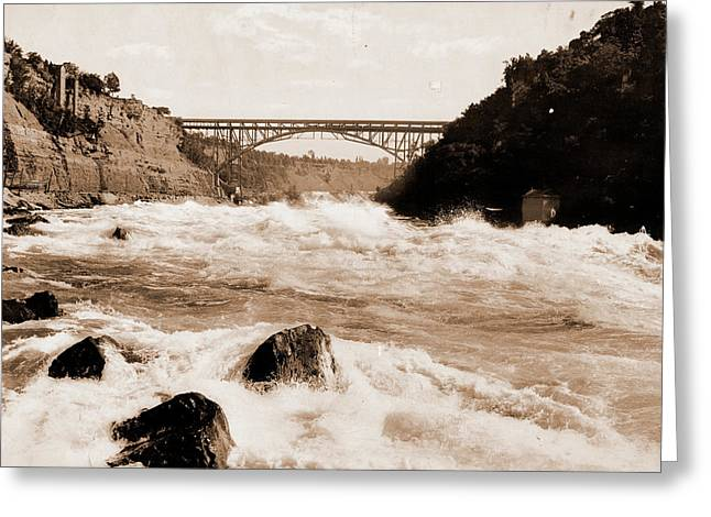 Niagara Rapids And Michigan Central Cantilever Bridge Greeting Card by Litz Collection