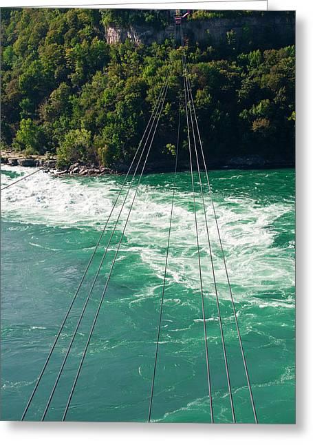 Niagara River Cable Car Greeting Card by Marek Poplawski