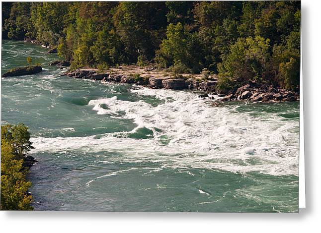 Niagara River Rapids Greeting Card by Marek Poplawski