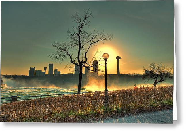 Niagara Sunset Greeting Card