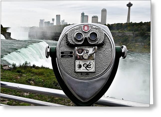 Niagara Vigil Greeting Card by Richard Reeve