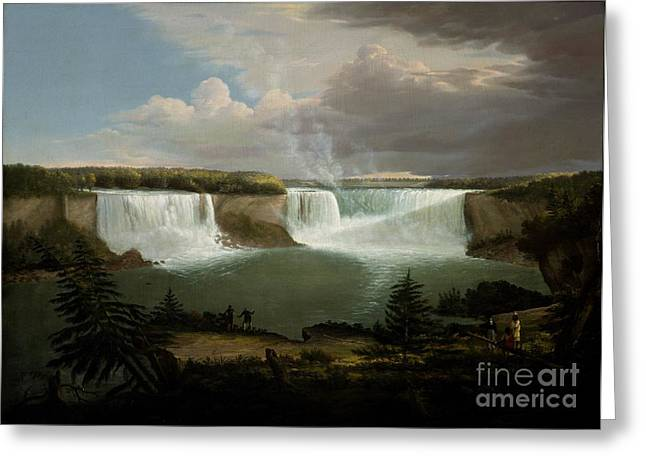Niagra Falls By Alvan Fisher Greeting Card