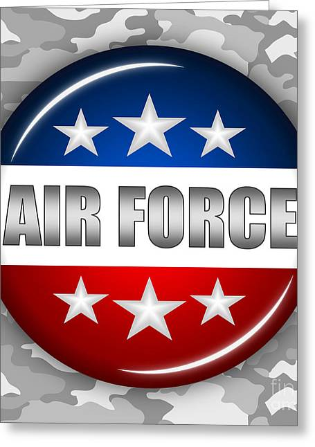 Nice Air Force Shield 2 Greeting Card by Pamela Johnson
