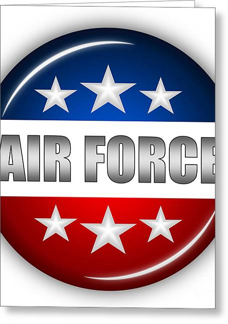 Nice Air Force Shield Greeting Card by Pamela Johnson