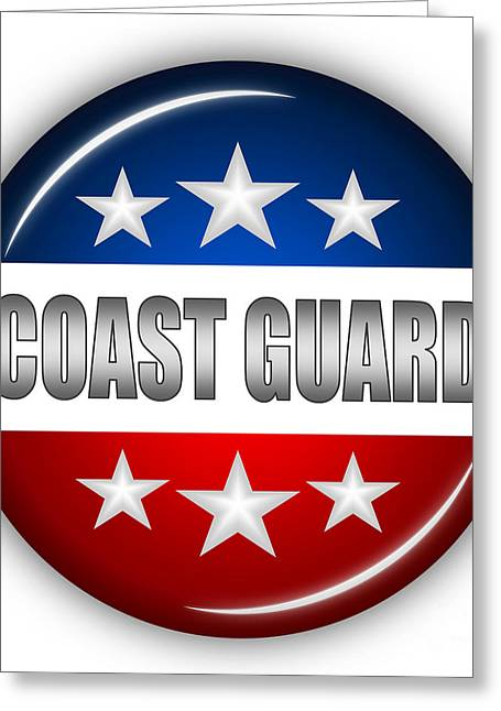 Nice Coast Guard Shield Greeting Card