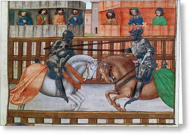 Nicholas Clifford Jousting Greeting Card