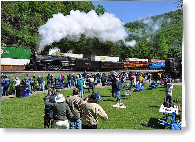 Nickel Plate Berkshire At Horseshoe Curve Greeting Card
