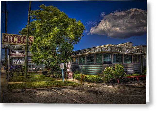 Nicko's Fine Foods Greeting Card by Marvin Spates