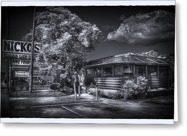 Nicko's Restaurant Greeting Card by Marvin Spates