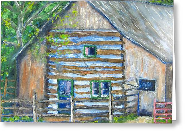 Nick's Barn Greeting Card by Kathryn Barry