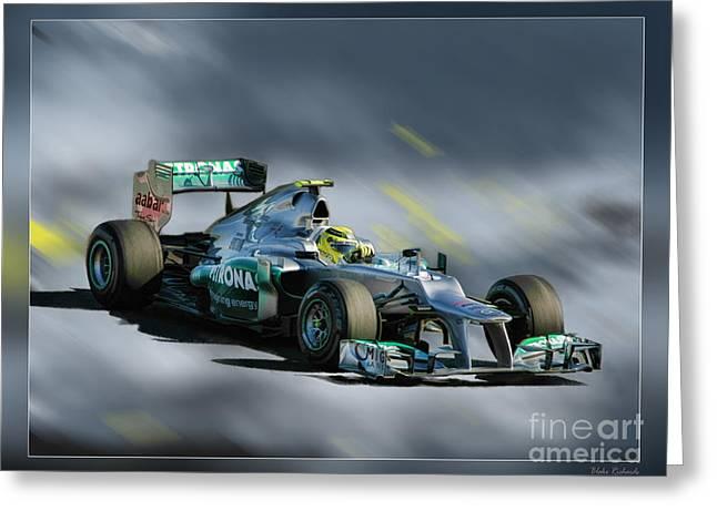Nico Rosberg Mercedes Benz Greeting Card