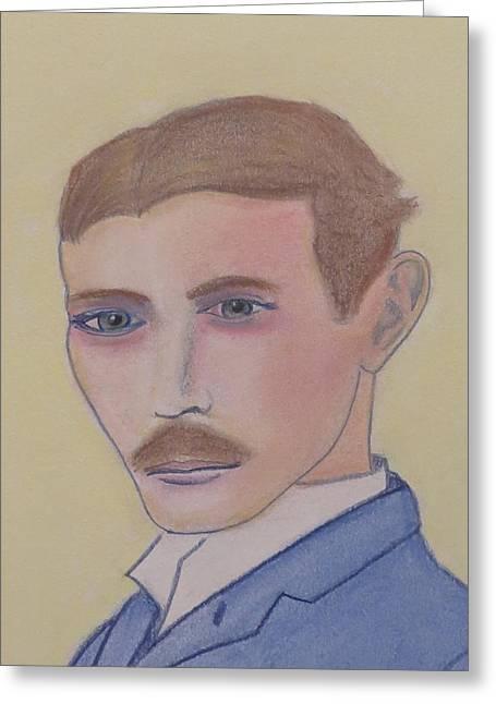 Nikola Tesla Mad Scientist Greeting Card