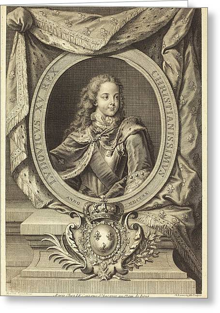 Nicolas De Larmessin Iv After Hyacinthe Rigaud French Greeting Card by Quint Lox