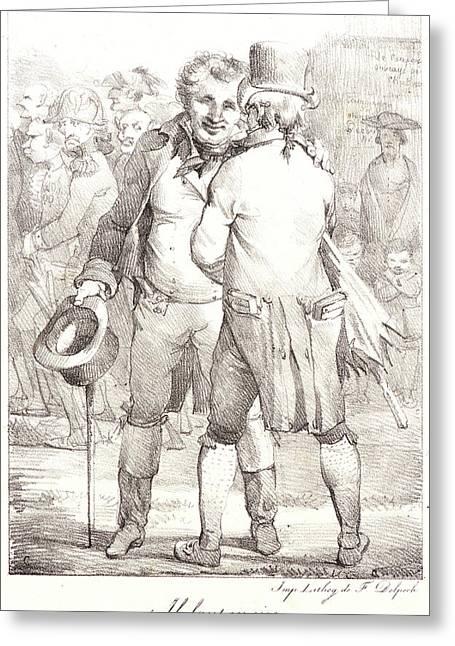 Nicolas Toussaint Charlet French, 1792 - 1845. Il Faut En Greeting Card