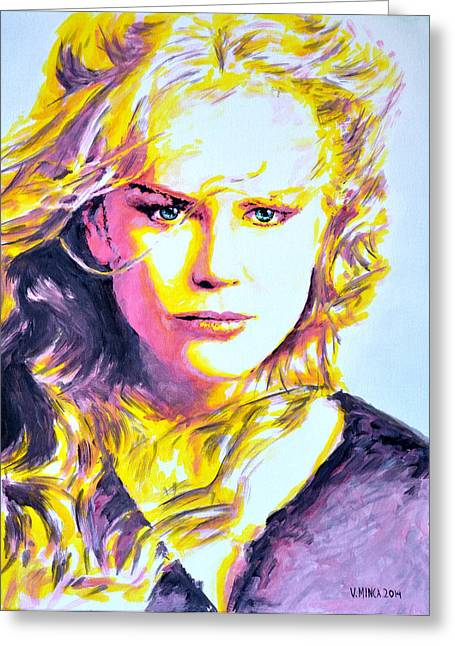 Nicole Kidman Greeting Card