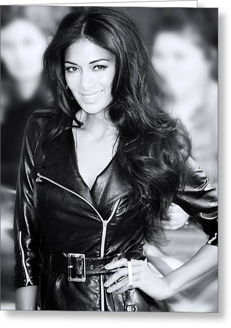 Nicole Scherzinger 20 Greeting Card by Jez C Self