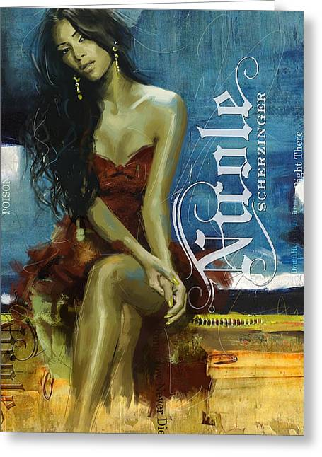 Nicole Scherzinger Greeting Card
