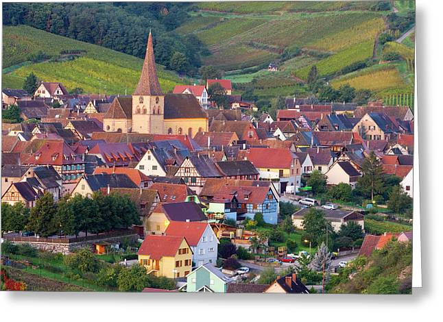 Niedermorschwihr, Alsace, France Greeting Card