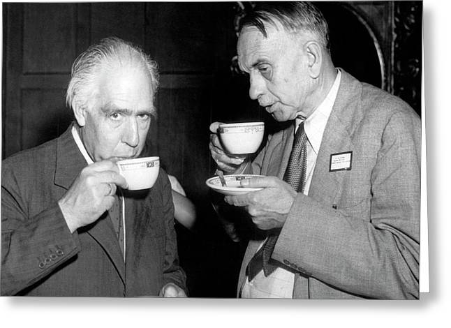 Niels Bohr And Richard Tolman Greeting Card