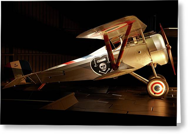Nieuport 24 Biplane, Omaka Aviation Greeting Card by David Wall