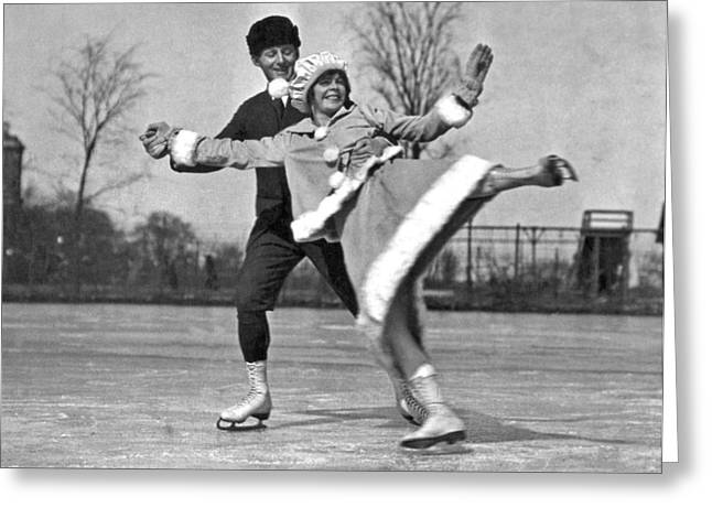 Nifty Moves On Ice Skates Greeting Card