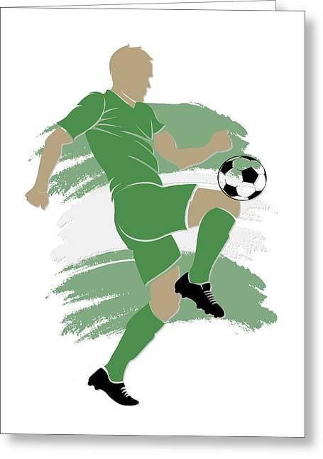 Nigeria Soccer Player Greeting Card
