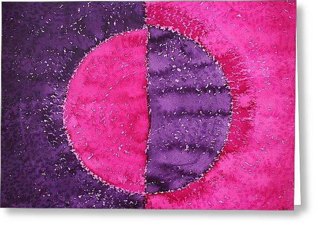 Night And Day Original Painting Greeting Card by Sol Luckman