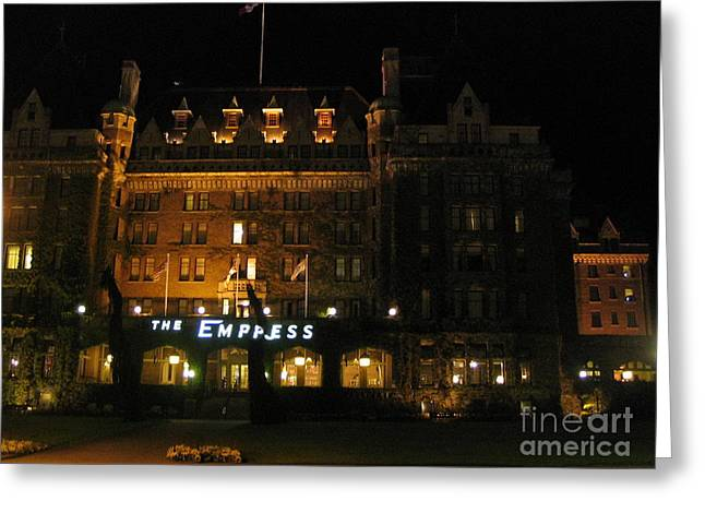 Night At The Empress Hotel Greeting Card