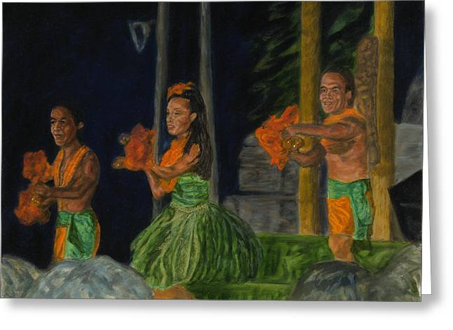 Night At The Luau Greeting Card
