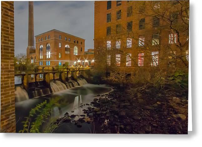 Night At The River Greeting Card