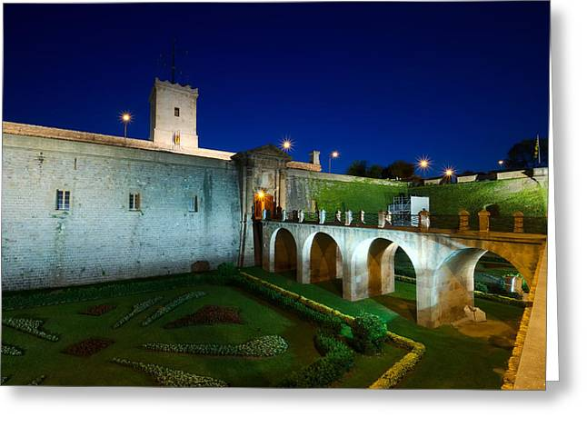 Night Castle Greeting Card by Ioan Panaite