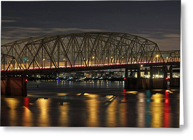 Night Crossing At I-5 Greeting Card