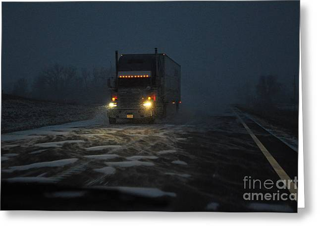 Night Driver Greeting Card