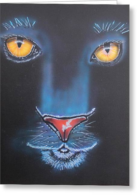 Night Eyes Greeting Card