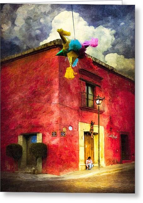 Night Falls On Oaxaca - Festive Mexico Greeting Card by Mark E Tisdale