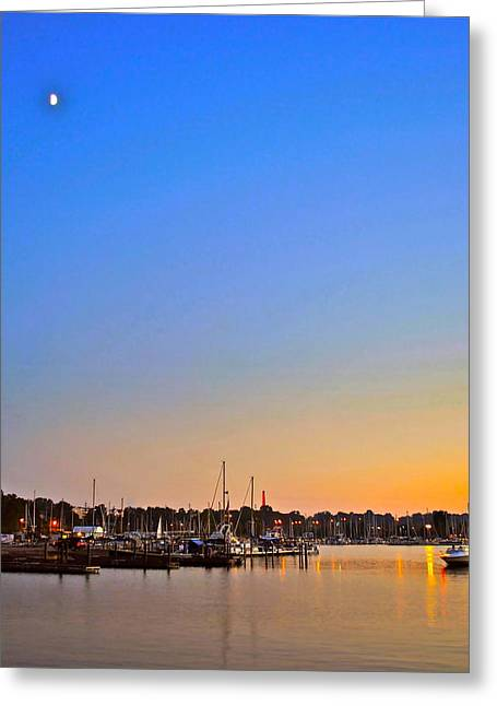 Night Fishing Greeting Card by Frozen in Time Fine Art Photography