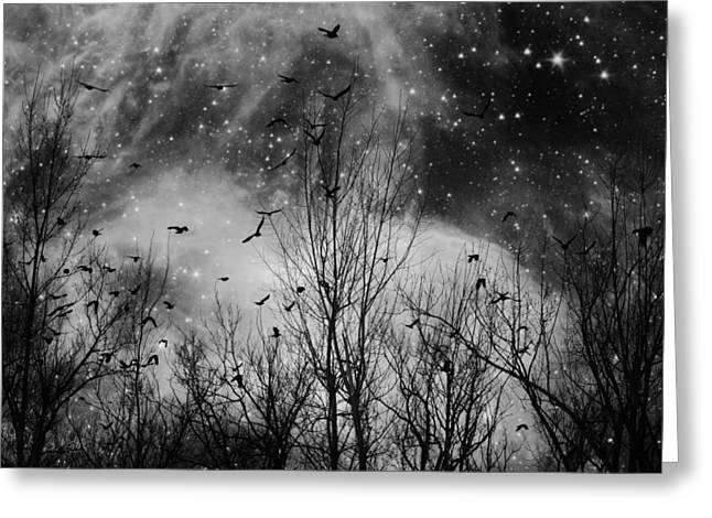 Burst Of The Night Flight Greeting Card by Gothicrow Images