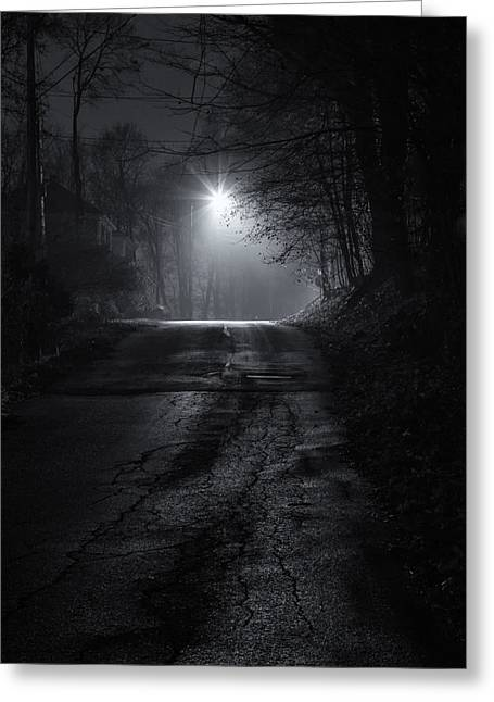 Night Fog Greeting Card