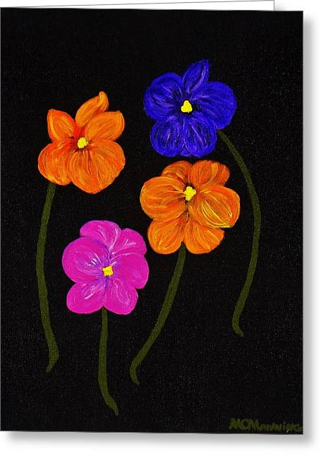 Night Glow Greeting Card by Celeste Manning